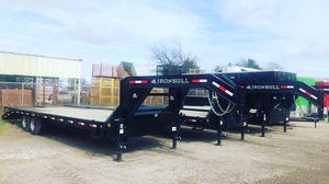 Gooseneck 102x28 trailer 7 k axles one year warranty for Sale in Lancaster, TX