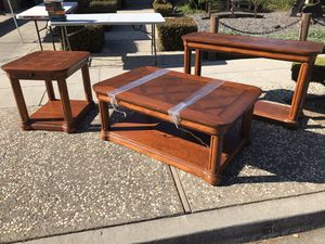 Family room table set( coffee, library, end table) for Sale in San Jose, CA