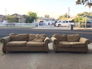 Today Only! Bernhardt Sofa & Loveseat Couch Set for Sale in Fresno, CA