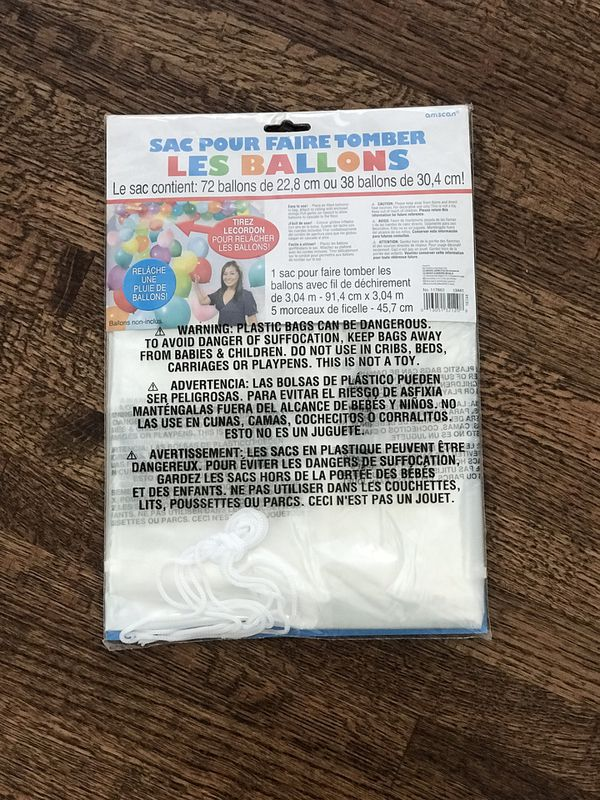 Balloon Drop Bag from party city