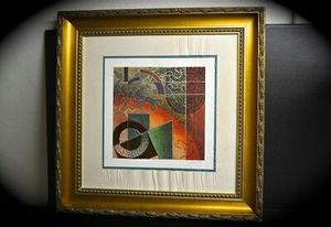 Chris Hill signed abstract art for Sale in Belleville, IL