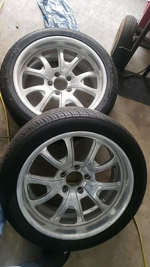 2 18inch tires comes with rims for Sale in Kenmore, WA