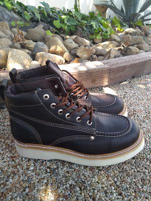 Mexican Leather Work Boots-Bota de Trabajo de Mexico de Piel for Sale in Orange, CA
