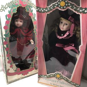 Pair Of New Vintage Porcelain Dolls for Sale in Chino, CA