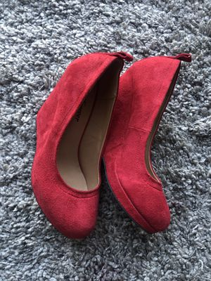 Red suede wedges for Sale in Benicia, CA