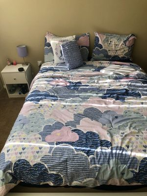 Bed frame with side table plus mattress for Sale in Cleveland, OH