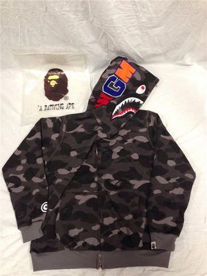 BAPE Color Camo WGM Shark Jacket for Sale in Houston, TX