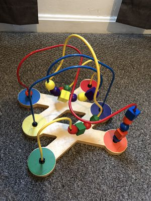 Wooden toy maze beads learning toys for babies and toddlers for Sale in Riverdale Park, MD