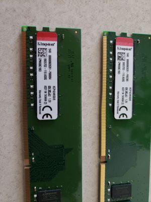 Lot of 2 Kingston ddr4 8gb Desktop ram for Sale in Reno, NV