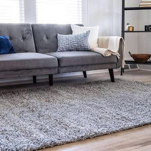 Brand New Loom Solo Solid Shag Collection Modern Plush Cloud Gray Area Rug (4' 0 x 6' 0) for Sale in Cockeysville, MD