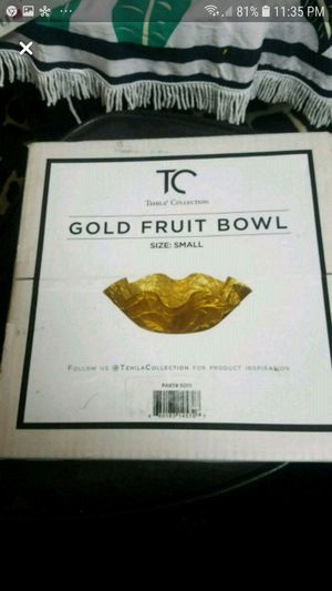 Tc gold fruit bowl for Sale in Lawndale, CA
