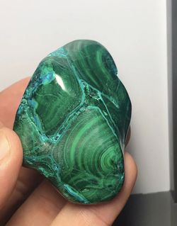 Swirling Malachite Palm Stones for Sale in Portland,  OR