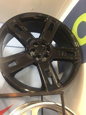 "26"" 26 inch gloss black replica wheels rims and tires for Sale in Cicero, IL"