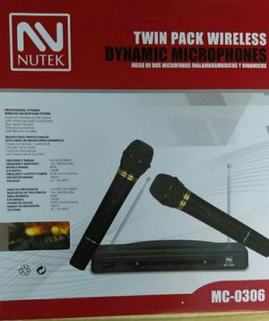 New Twin Pack wireless. Microphones brand new in box for Sale in Bakersfield, CA