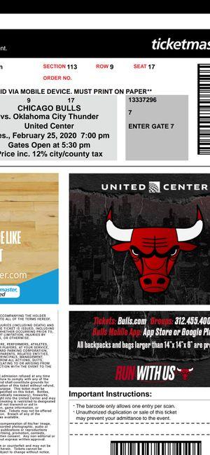 Chicago Bulls tickets near courtside. 4 tickets near courtside for Sale in Chicago, IL