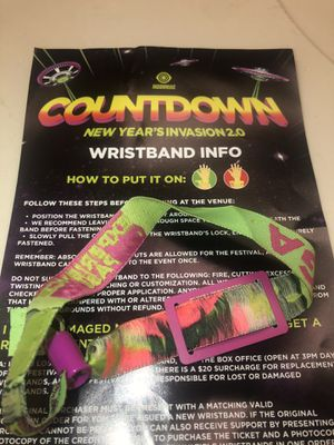Countdown GA ticket for Sale in Fontana, CA