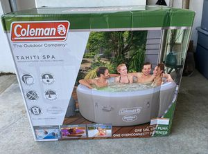 """Brand New Coleman SaluSpa 71"""" x 26"""" Tahiti AirJet Inflatable Hot Tub, 2-4 person for Sale in Pikesville, MD"""