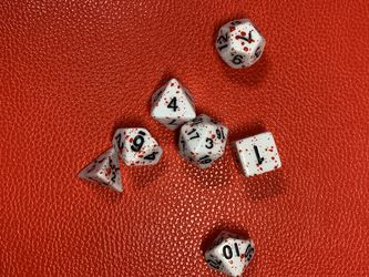 Blood Splatter Polyhedral Dice Set Dungeons And Dragons Battle RPG War Table Top Board Games for Sale in Happy Valley,  OR