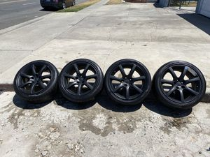 """18"""" infinity rims wheels tires for Sale in Los Angeles, CA"""