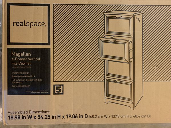 4- drawer vertical filing cabinet - New in Box