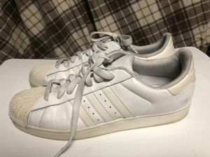 Adidas Shelltoe White Shoes for Sale in Forest Heights, MD