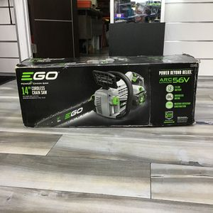"NEW IN BOX EGO 14"" ELECTRIC CHAINSAW NEEDS BATTERY for Sale in Fort Lauderdale, FL"