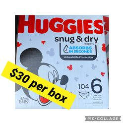 Huggies Snug Dry Size 6 for Sale in Signal Hill,  CA