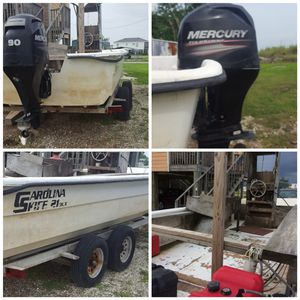 Boat and 2013 90HP Mercury Motor for Sale in Lake Charles, LA