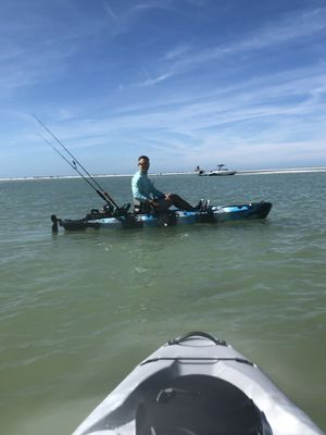 (2) Vibe SeaGhost 110 Fishing Kayaks and Continental Trailer. for Sale in Tampa, FL