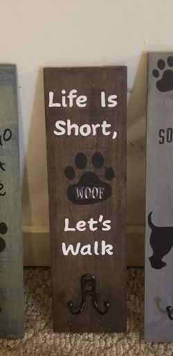 Wooden Dog Leash Wall Sign for Sale in Weston,  WV