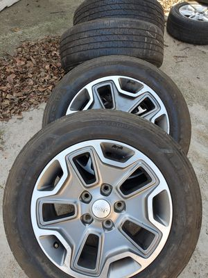 Jeep rims. Good tires for Sale in Irving, TX
