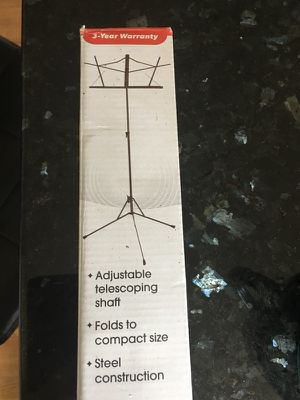 Titan Music Stand- Black Open Box for Sale in Oakton, VA