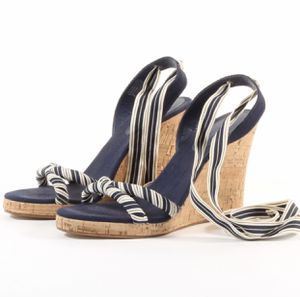 Banana Republic Women's Lace Up Cork Wedge Sandals Cute Summer Shoes Heels for Sale in Marysville, WA