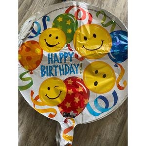 Happy Birthday Mylar Smiley Face Balloon for Sale in Baldwin Park, CA