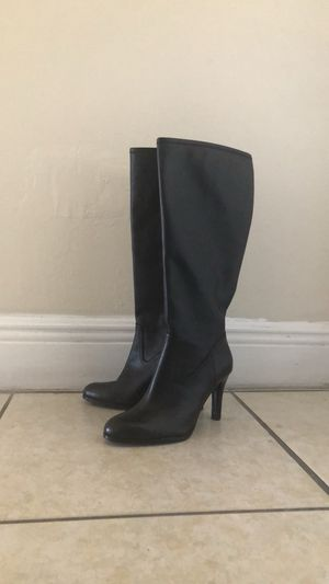 Ralph Lauren Black Leather Heeled Boot for Sale in Hialeah, FL