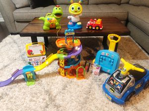Large lot of toddler / kid toys - Batman car, Dino, Eric Carle, vetch $60 FOR ALL for Sale in Fort Worth, TX