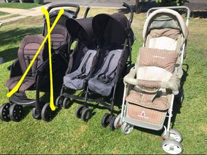 Double stroller 50 up FIRM PRICE NO DELIVERY CASH OR TRADE FOR BABY FORMULA for Sale in Los Angeles, CA