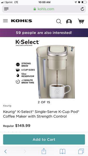Keurig K -select for Sale in Morrisville, NC