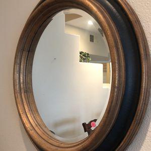 Gold & Black Round Mirror for Sale in Costa Mesa, CA