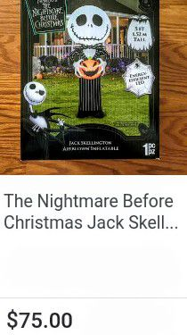Nightmare before Christmas Jack skellington airblown inflatable for Sale in Fresno, CA