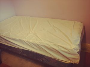 Twin size bed. Mattress, box spring and frame for Sale in Orange City, FL