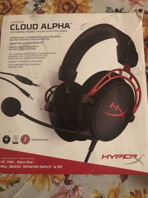HyperX cloud alpha gaming headphones for Sale in East Hartford, CT
