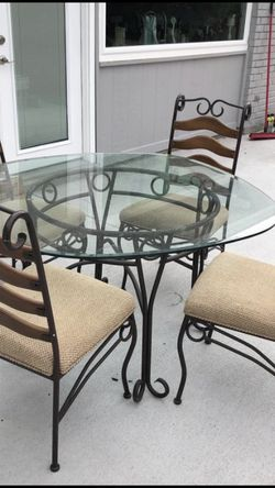 Glass Dining Table And 4 Chairs for Sale in Rowlett,  TX