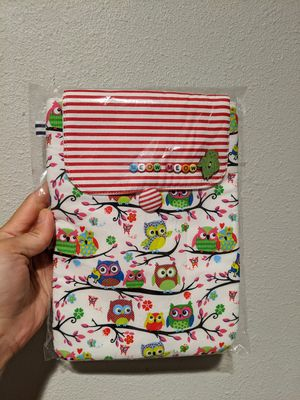 New owl netbook tablet Kindle eBook fabric case cover for Sale in Bellevue, WA