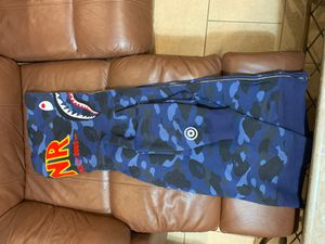BAPE color camo PONR shark full zip hoodie Navy for Sale in Queens, NY