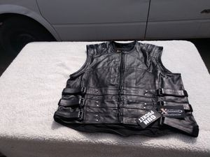 new Xelement mens tactical motorcycle vest. Genuine leather. Sizes 2XL, 3XL & 4XL for Sale in Denver, CO