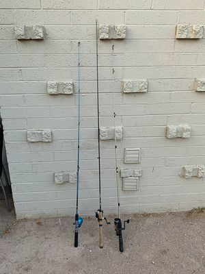 Fishing rods and tackle box for Sale in Scottsdale, AZ