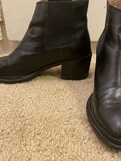 Jeffrey Campbell Black Leather Boots Size 8.5 for Sale in San Diego,  CA