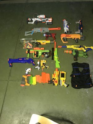 Nerf guns and a few accessories for Sale in Indianapolis, IN