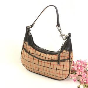 Coach Tattersall Wool Plaid Hobo Bag for Sale in Las Vegas, NV